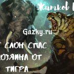 Как слон спас хозяина от тигра Житков Б.С.